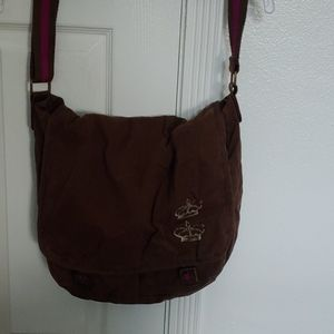 MOSSIMO SUPPLY CO BROWN MESSENGER BAG